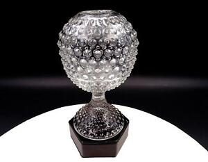 """DUNCAN MILLER PRESSED GLASS #118 HOBNAIL CLEAR 6 1/2"""" IVY BALL 1930-1955"""