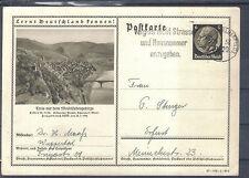 Deutsches Reich 1938 Ganzsache Lernt Deutschland kennen WUPPERTAL ERFURT SCHORND