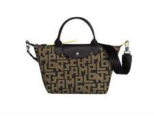 NWT Longchamp Le Pliage LGP Logo Small Satchel Crossbody Bag Khaki Brown AUTHNTC