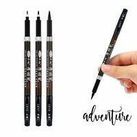 3pcs Calligraphy Pen Set Fine Liner Tip Medium Brush Pens For Signature Drawing