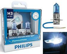 Philips Diamond Vision 5000K White H3 55W Two Bulbs DRL Daytime Light Cornering