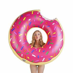BigMouth Giant Pink Donut Pool Float Inflatable Vinyl Summer Pool Toy