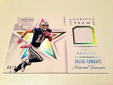Cole Beasley 2015 Panini National Treasures AmericasTeam HF GW Jersey Card #/99