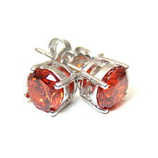 Diamond-unique 4 Claw Fire Opal Studs Sterling Silver