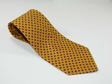 Men's POLO Ralph Lauren Silk NECKTIE Tie HAND MADE IN USA GOLD YELLOW RED EMBLEM