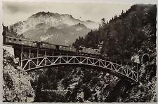 Germany Mittenwaldbahn Railway Train Bridge Karwendel Real Photo Postcard RPPC