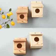 Crafts Wooden Bird House Wall Mounted Yard DIY Handmade Box Garden Decoration YD