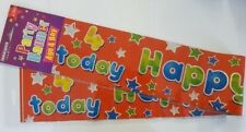 Happy 4th Birthday Orange Banner can be split in to 3 of 86cm or a single 258cm