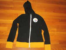 PITTSBURGH STEELERS FULL ZIP LIGHT WEIGHT HOODED JACKET GIRLS SMALL 8-10 EXC.