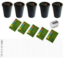 5 x Filmdose +Magneten + Logstreifen +Aufkleber Geocache Versteck Dose Cache
