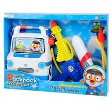 New Pororo Blue Police Backpack Water Gun / Pororo Toy Watergun (standard)