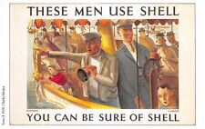 Post Card PUBLICITE ADS SHELL OIL n87 ILLUSTRATION CHARLES MOZLEY