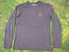 HURLEY SURF NEW JERSEY Official Men's Long Sleeve Dark Gray T-Shirt Size Medium