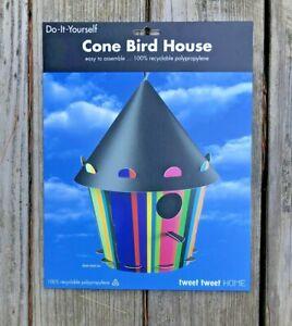 Recyclable Cone Multi Striped Bird House Tweet Tweet Home Do It Yourself