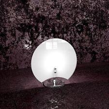 Lumetto in vetro moderno bianco cromato a 1 luce tpl 1114/P