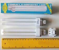 2 x COMPACT FLUORESCENT ENERGY SAVING 26W = 150W LAMP G24q-3 WARM WHITE 4 PIN