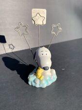 Baby Snoopy Woodstock Photo Holder Peanuts Teddy Bear Cloud Star Hallmark