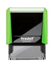 TRODAT 4912  Printy GREEN Color CUSTOM SELF-INKING 4 line Return Address Stamp