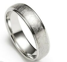 10K WHITE GOLD MENS WEDDING BANDS RINGS 6MM