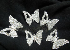 (5pcs) Butterfly Charms for cell phone, nail decorations, clothes, jewelry NEW