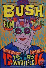 Bush Warfield Poster Hum Toadies Bgp129 Original Bill Graham Chuck Sperry