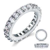 Hochwertiger Verlobungsring Eternity 925 Sterlingsilber viele Zirkonia FR8059
