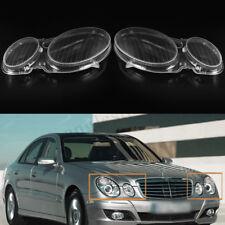 2x Headlight Lens Headlamp Cover kit For MERCEDES E CLASS W211 E320 E350 2006-08