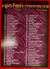 HARRY POTTER - SORCERER'S STONE - Card #090 - CHECKLIST - Artbox 2005