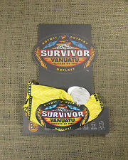 Original 2004 Survivor Season 9 Vanuatu Yellow Buff & Logo Card (Not Reissue!)