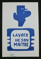 Affiche mai 68 LA VOIX DE SON MAÎTRE DE GAULLE poster 1968