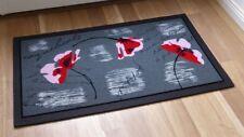 Paillasson tapis de sol 9010/01 Coquelicot Fleurs Rouge Gris 40x68cm