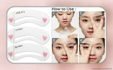 3 Styles Eyebrow Grooming Stencil Kit Template Makeup Shaping Shaper DIY Tool CA