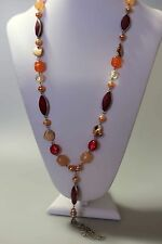 SABA Set - Necklace & Bangle fushsia&multi in colour new tag adjustable chain