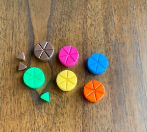 TRIVIAL PURSUIT 20TH ANNIVERSARY EDITION REPLACEMENT PART 6 TOKENS & 39 WEDGES
