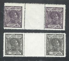 Elobey Annobony & Corsico Spanish Colonies Mint MNH gutter pairs Sc# 39/40 1907