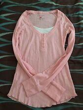 Juniors Pink Long Sleeved Shirt Size M