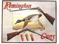 Remington Guns Two Shotguns and Duck-Hunting - Collectible TIN Sign MADE IN USA