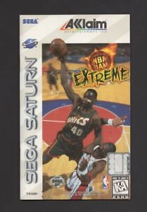 NBA Jam Extreme Sega Saturn w/ Registration Card MANUAL ONLY Authentic