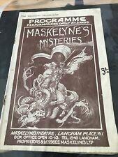 More details for maskelynes mysteries maskelyne theatre 1929