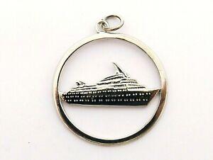 Cruise Ship M S Starward vintage sterling silver circular charm or pendant