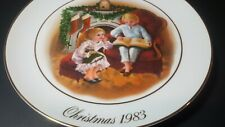 1983 Avon Christmas Memories Plate. Pl2