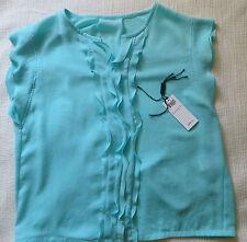 Neu Marc Cain Oberteil Top Bluse Shirt NP149,90€ m.Rech. türkis Gr.6 De Gr. 44