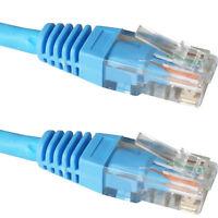 20m CAT5e Patch Ethernet RJ45 Cable/Lead -Blue- Pure Copper LSZH Network UTP LAN
