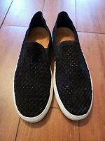 Donald / Pliner Clark Woven Fashion Sneaker Black suede Men size 11