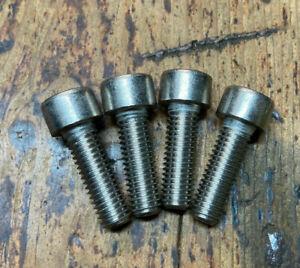 Gripfast BMX Stem Bolts Silver Old School 80's BMX Allen Key M8 x 25mm *NOS
