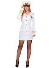 Ladies Navy Costume Nautical Uniform Fancy Dress Sailor Military Hen Do Outfit
