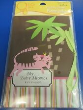 Queen of Jungle Pink Brown Dots Stripes Baby Shower Party Gift Registry Keepsake