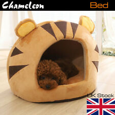 Pets House Igloo Padded Fleece Winter Bed Dog Cat hut House Kennel UK