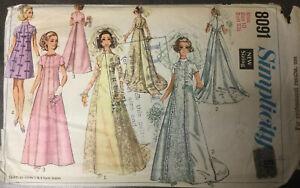 60s 70s Bridal Design 8091 Empire Look Bride, Bridesmaid Dress Size 10 Bust 32.5
