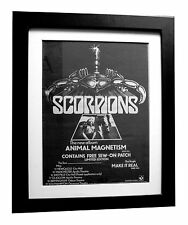 SCORPIONS+Animal Magnetism+POSTER+AD+RARE ORIGINAL 1980+FRAMED+FAST GLOBAL SHIP